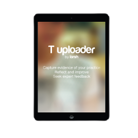 T Uploader App with Tablet