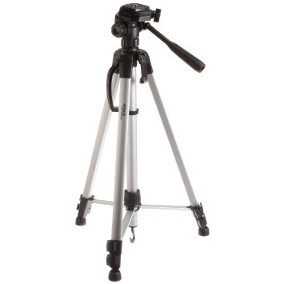 "<p>AmazonBasics Tripod with <a href=""http://www.google.com"" target=""_blank"">Accmor Adapter</a></p>"